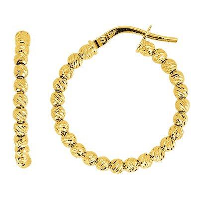 So Chic Bijoux © Boucles d'oreilles Femme Créoles Boules Diamantées 20 mm Or Jaune 750/000 (18 carats)
