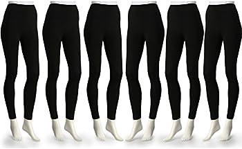 6-Pk. American Leggings Ezi Fleece Lined Leggings
