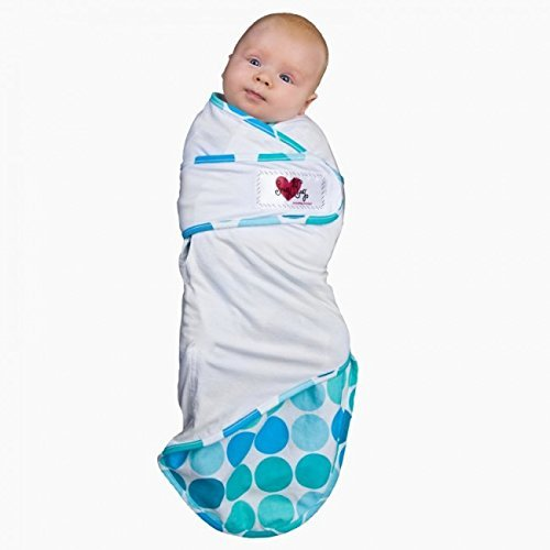Go Mama Go Snug and Tug Adjustable Swaddling Blanket, Caribbean Blue/Premie by - Swaddling Tug Blanket