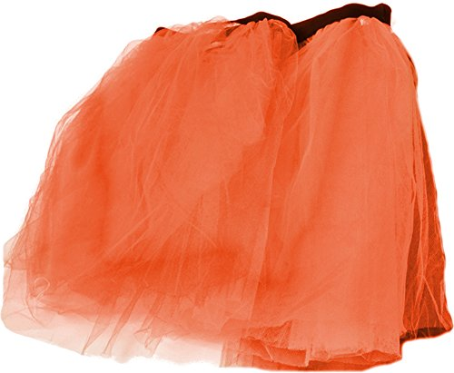 Orange Retro 80s Colorful Neon Assorted Color Tu Tu Tutu Skirt Costume Accessory