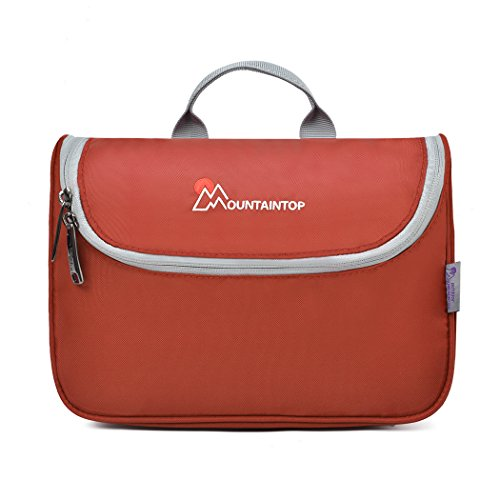 6e1b18ce91a6 Mountaintop Toiletry Bag Makeup Organizer Cosmetic Bag Portable Travel Kit  Organizer Household Storage Pack Bathroom Storage with Hanging for Business  ...