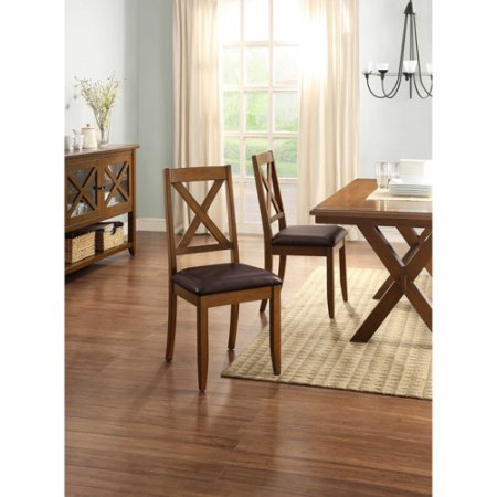 Better Homes and Gardens Maddox Crossing Dining Chair, Set of 2, Brown