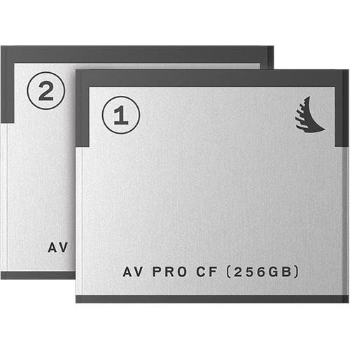 Angelbird 2x AV PRO CF 256GB Memory Card Match Pack for Blackmagic Design URSA Mini Cameras