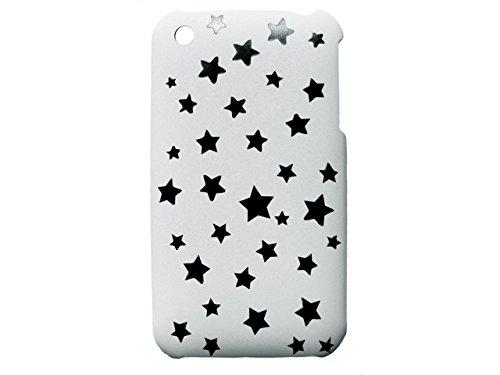 Telileo Back Case - Apple iPhone 3G iPhone 3GS - Sterne - Schwarz/Weiß
