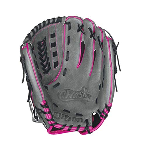 Wilson Flash Baseball Gloves, Black/Hot Pink, 11.5