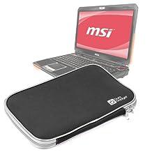 """Sleek Black Water Resistant Protective Laptop Sleeve for MSI GT70, GT663, GT680, GT683 & GX660 15.6"""""""