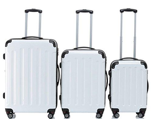 Beibye 2045 Lote de 3maletas verdes, paraequipaje, maletas rígidas