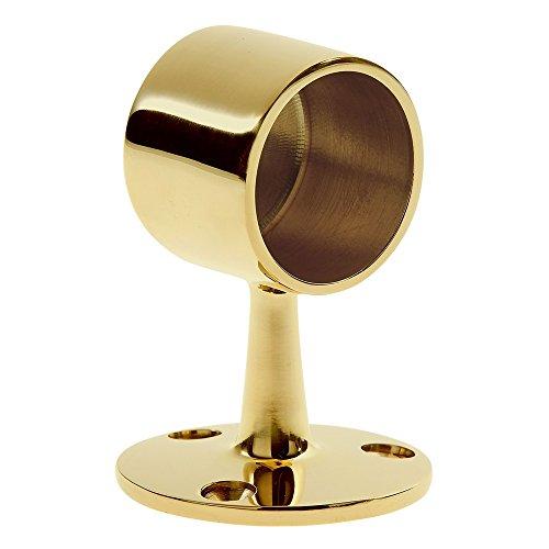 Lavi Industries 00-340/1H Brass Flush End Post 1-1/2