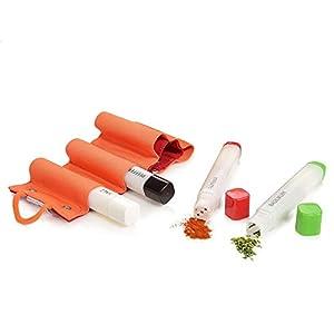 Emsa Gewürzstreuer Set aus Kunststoff 5 teilig | Maße 2x2x14,5 cm | In praktischer Stift-Form, perfekt geeignet für den…