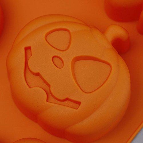 Lumanuby 1/x Halloween Murci/élagos Moldes Silicona Multifunctional Molde de Calabaza y Esp/íritu para Pasteles Cupcake Muffin o Jalea Color Aleatorio Silicona Formas Serie