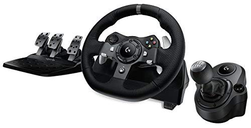 g Force Racing Wheel + Logitech G Driving Force Shifter Bundle for Xbox One and PC (Renewed) ()