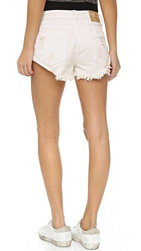 One Teaspoon Women's Worn White Bandit Shorts, Worn White, 24 by One Teaspoon (Image #2)
