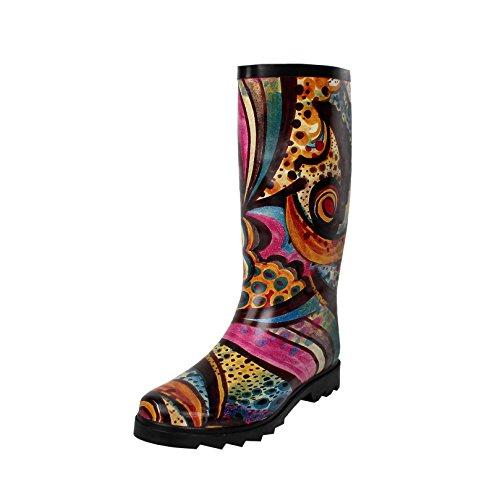 - West Blvd Rainboots Comfort Rain-Boots, Monet Rubber, 10
