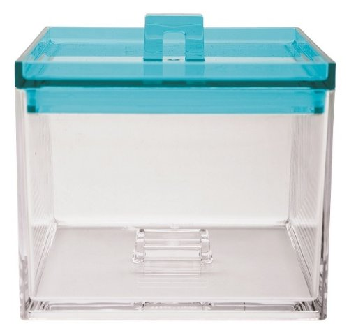 ZAK! Designs CAJA APILABLE TRANSPARENTE/AQUA 950 ML. 1783-0210