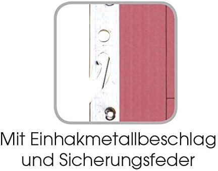 ELBA 100560023 Einhakhefter Smart Line mit Amtsheftung 50er Pack halber Vorderdeckel aus 250g//m/² Karton gelb