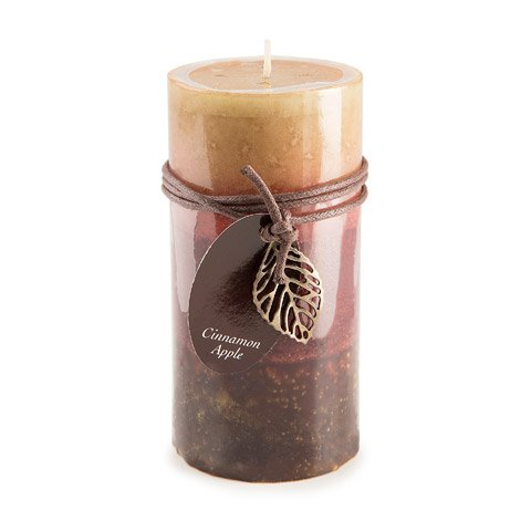 Dynamic Collections DYN3483 Candle Pllr Cinn Apple 3X6In, 3 x 6, Multicolor ()