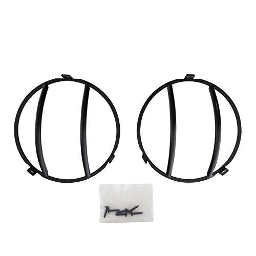 Smittybilt 5660 Euro Black Headlight Cover for 1997-2006 Wrangler TJ (Covers Headlight Euro)