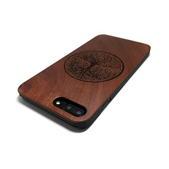BTHEONE iPhone 7 PLUS Case, Slim Wood Protective Cover Case for iPhone 7 PLUS ,Handmade Natural Solid Wood Case,Real wooden Case (Rosewood-Yggdrasill) 4 √ Compatible with iPhone 7 Plus (Not for iPhone7) √ Naturally wood different,each wood back has a unique grain and texture. √ Specially designed for iPhone 7 Plus, has precise design for speakers, charging ports, audio ports and buttons.