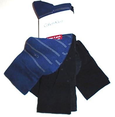 Calvin Klein Combed Cotton BONUS 4 Pairs Casual Dress Socks (Designer Mix)