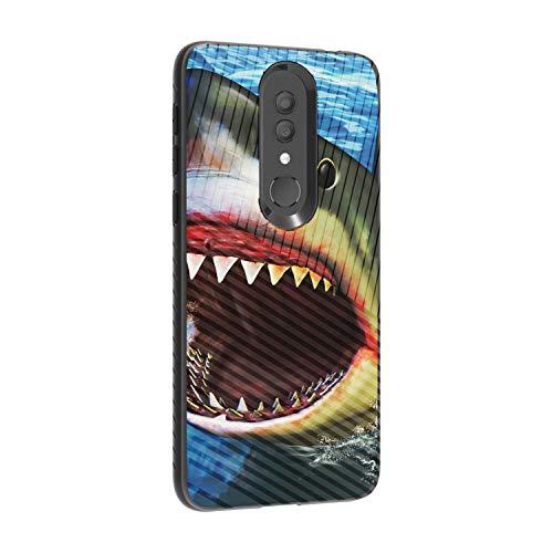 (TurtleArmor   Compatible for Alcatel Onyx Case   Shockproof Hybrid Armor Engraved Grooves Slim Case Sea Ocean Design - Shark Attack)
