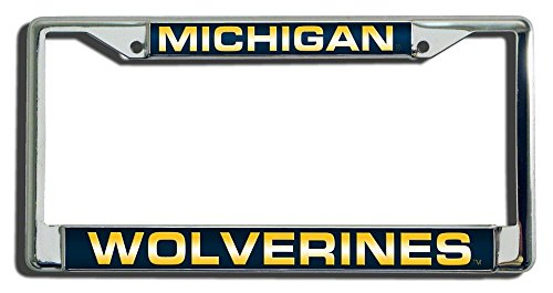 NCAA Michigan Wolverines Laser Cut Chrome Plate Frame (University Michigan Accessories Of)