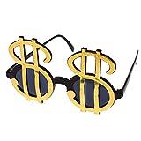 Gold Dollar Sign Novelty Glasses