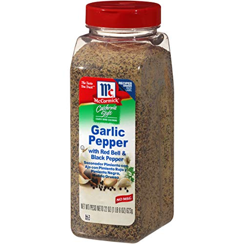 McCormick California Style Garlic Pepper with Red Bell & Black Pepper Coarse Grind Seasoning, 22 oz (Roasted Red Potatoes And Onion Soup Mix)