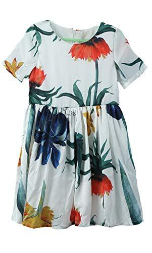a 6 las flores con os Adiasen ni Blanco de a blanco 2 de Vestido qAxAYXz0wv