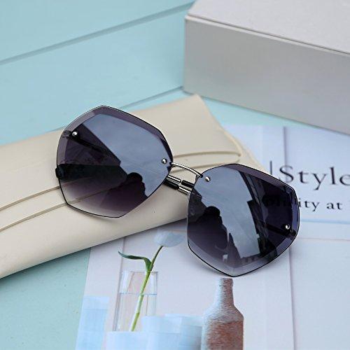Burenqi Einzigartige polygonale Sonnenbrillen Sonnenbrillen gegen UVA- und UVB-Polarisation, eine