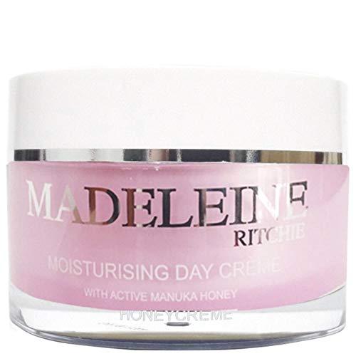 Madeleine Ritchie New Zealand HoneyCreme Moisturising Day Face Cream with Active Manuka Honey 3.4 fl.oz jar. Original. Authentic & Natural Anti Aging Skin Care ()