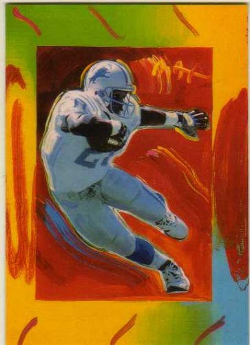 1997 Topps Gallery Peter Max Serigraphs #PM5 Barry Sanders - Detroit Lions