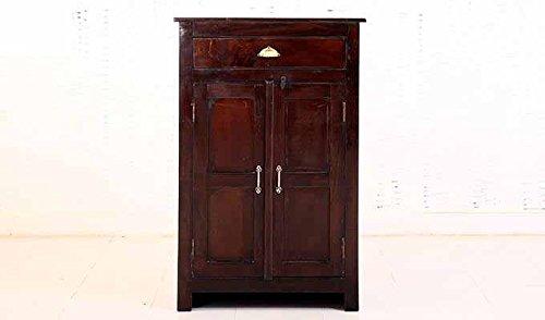 Aprodz Mango Wood Wine Storage Tardun Stylish Bar Cabinet for Living Room   Mahogany Finish