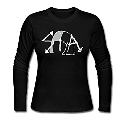 Sia The Greatest Logo Long Sleeve T Shirts For Women Black