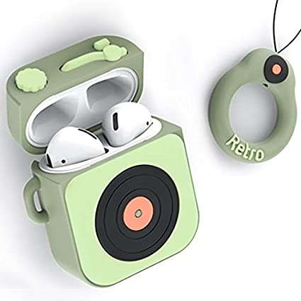 Light Green Cute Silicone Protective Airpod Case Cover Compatible with Apple AirPods 2 /& 1 AirPods Case