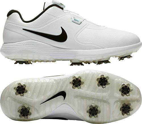 Nike Men's Vapor Pro BOA Golf Shoes (8.5M, White/Black) (Nike Vapen Boa Snowboard Boots 2014 Review)
