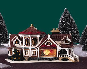 lemax christmas caddington village wheeler house lighted porcelain house 45008