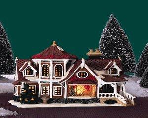 Lemax Christmas Caddington Village Wheeler House Lighted Porcelain ...
