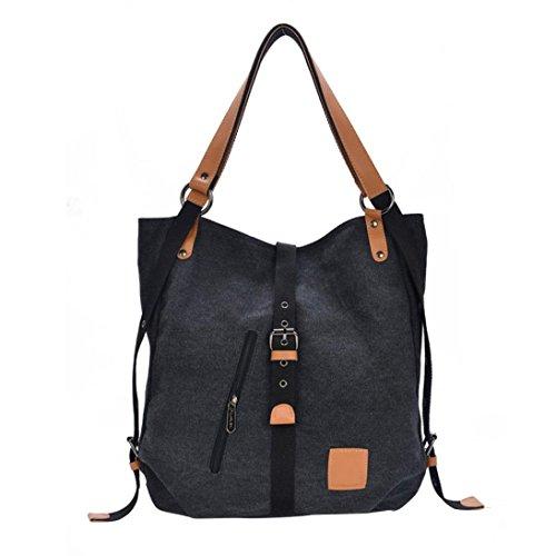 Bag Handbag Bags Shoulder Blue Bag Casual Messenger black Multifunctional Crossbody Canvas Woman SFwqZnOwpz