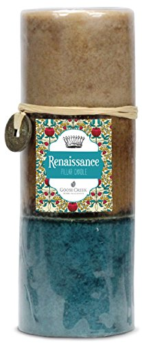 Goose Creek 3 By 8 Inch Renaissance Three Pour Pillar Candle