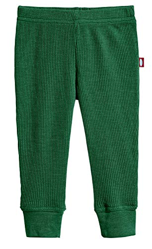 City Threads Baby Boys and Baby Girls Soft Cotton Thermal Cuffed Baby Newborn Infants Pants Joggers for Sensitive Skin SPD Sensory Friendly Clothing, Forest Green, 18/24M