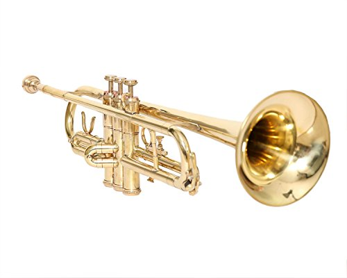 CHRISTMAS SALE TRUMPET Bb PITCH BRASS WITH FREE HARD CASE AND MOUTHPIECE