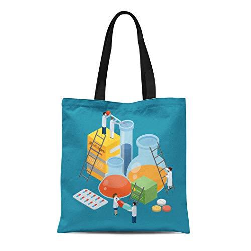 Aspirin Drug Test - Semtomn Canvas Tote Bag Shoulder Bags