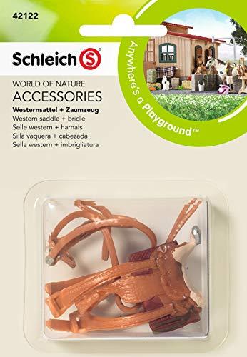SCHLEICH 42122 North America Western Saddle + Bridle Toy Figure