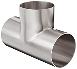 Dixon B7W-G300P Stainless Steel 304 Polished Fitting, Weld Long Tee, 3\