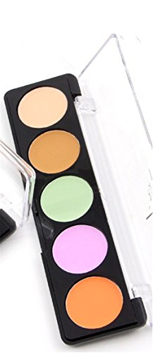 Pure Vie Pro 5 Colors Cream Concealer Camouflage Makeup Palette Contouring Kit - Camouflage Concealer Palette