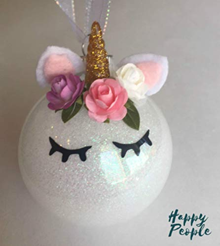 Make Your Own Unicorn Ornament, Kit, DIY, Holiday Gift from HappyPeople