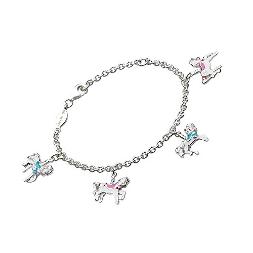 Children's Jewelry - Sterling Silver Carousel Horse Charms Bracelet by Loveivy