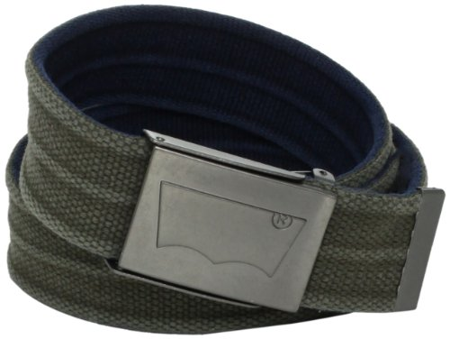 Levi's Men's Washed Cotton Reversible Web Belt