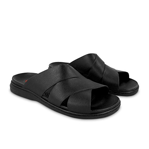 Okabashi Men's Milan Flip Flops - Sandals Black