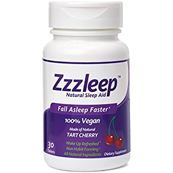 Zzzleep Natural Sleep Aid - #1 Tart Cherry Sleep Aid - Chewable Tablets